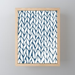 Hand Knitted Navy Framed Mini Art Print