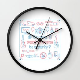 "Blink 182 ""Do you wanna go to a party?"" Wall Clock"