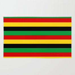 Guinea-Bissau Sao Tome and Principe flag stripes Rug