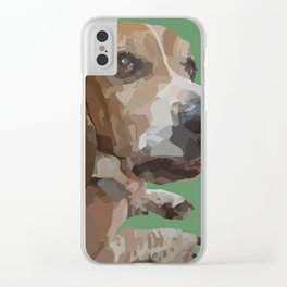 George the Basset Hound Clear iPhone Case