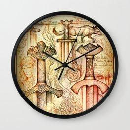 Szőtt tánc a Föld és az Ég Wall Clock