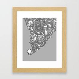 GHOST SMOKE Framed Art Print