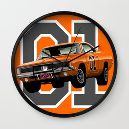 General Lee Dodge Charger Wall Clock