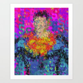 Superhero Type Art Comics SM Art Print