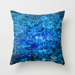 Water Color - Dark Blue - Navy Throw Pillow