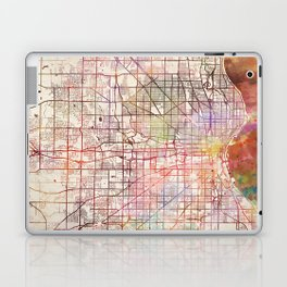 Milwaukee map Wisconsin Laptop & iPad Skin