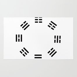 I Ching Clock Rug