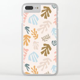 Seaweeds and sand Clear iPhone Case