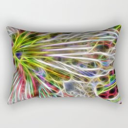abstract glowing amaryllis hippeastrum Rectangular Pillow