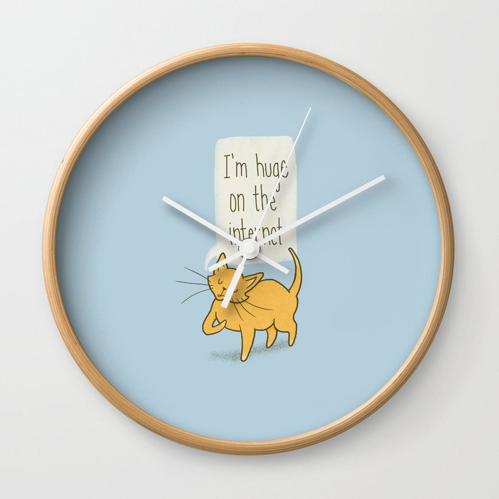 Huge on the Internet Wall Clock