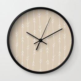 Arrow Pattern: Beige Wall Clock
