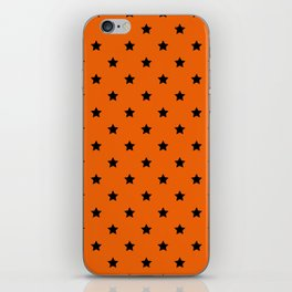 Orange and Black Stars Pattern iPhone Skin