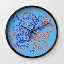 Blue/Red/Yellow Wall Clock