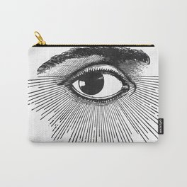 I See You. Black and White Carry-All Pouch