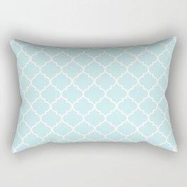 Baby Blue Quatrefoil Rectangular Pillow
