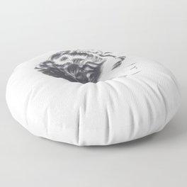 A portrait of Zelda Fitzgerald Floor Pillow