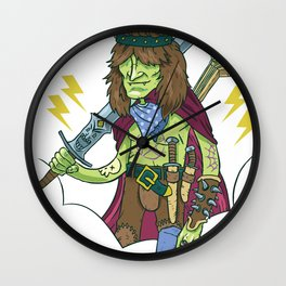 Bard to the Bone Wall Clock