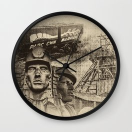 Mining Tribute Antique 2 Wall Clock