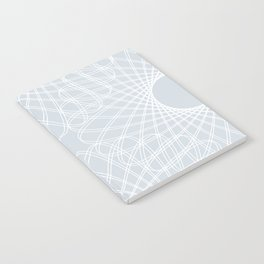 mathematical rotating roses - ice gray Notebook