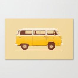 Van - Yellow Canvas Print
