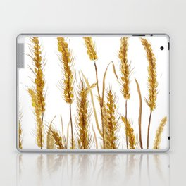 golden wheat field watercolor Laptop & iPad Skin