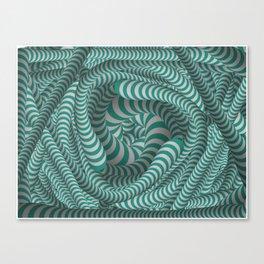 Mint green stripe design Canvas Print