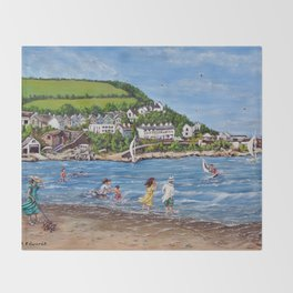 Newquay, Wales Throw Blanket