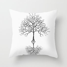 Tree of life meaning white Throw Pillow