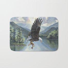 Eagle with Fish Bath Mat
