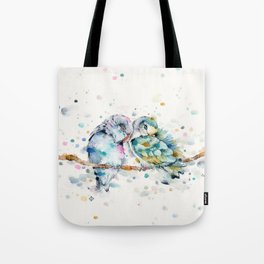 Mr & Mrs Snugglepots [pacific parrotlets] Tote Bag