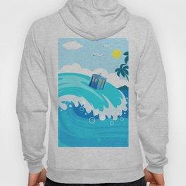 tardis in water waves Hoody