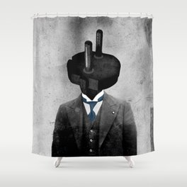 Sir Patrick Plug Shower Curtain