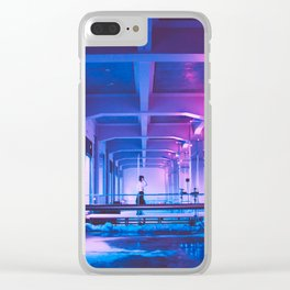 Glitchy Dreams Of You Clear iPhone Case