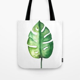 Watercolor Palm Leaf Tote Bag