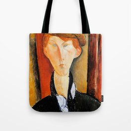 """Amedeo Modigliani """"Young Man with Cap"""" Tote Bag"""