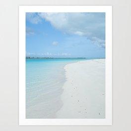 Perfect Empty Beach Art Print