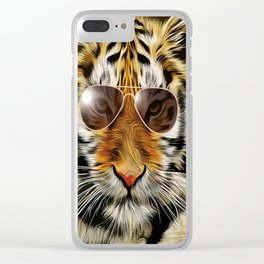In the Eye of the Tiger Clear iPhone Case