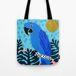 Steaz - memphis throwback tropical retro minimal bird art 1980s 80s style pattern parrot fashion Tote Bag