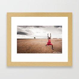 Africa Yoga Project Masai warrior 1 Framed Art Print