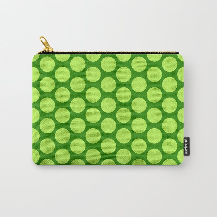 Dots Pattern 6 - Emerald, Lime, Green Carry-All Pouch