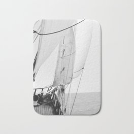 Away We Sail Bath Mat