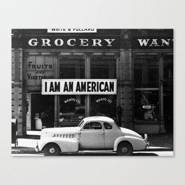 I Am An American Photo by Dorothea Lange Canvas Print