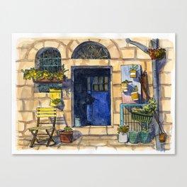 Blue Door - Jerusalem Street Canvas Print