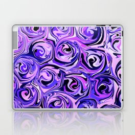 Violet and Lilac Paint Swirls Laptop & iPad Skin