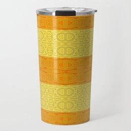 Neotribal Golden Orange Stripes Travel Mug