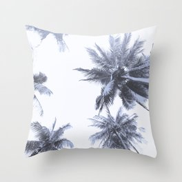 California Dreamin' in Blue Throw Pillow
