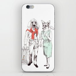Bestial cricket couple iPhone Skin