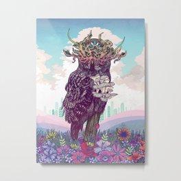 Journeying Spirit (Owl) Metal Print