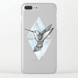 Hummingbird - Blue Clear iPhone Case