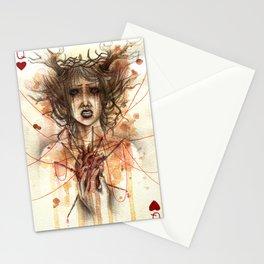 regina di cuori Stationery Cards